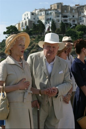 GERRY GEORGE, AS CHURCHILL ON THE ITALIAN RIVIERA